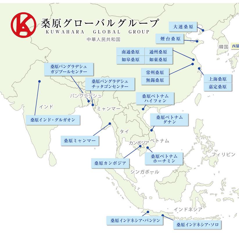 グローバル拠点とテレワーク体制